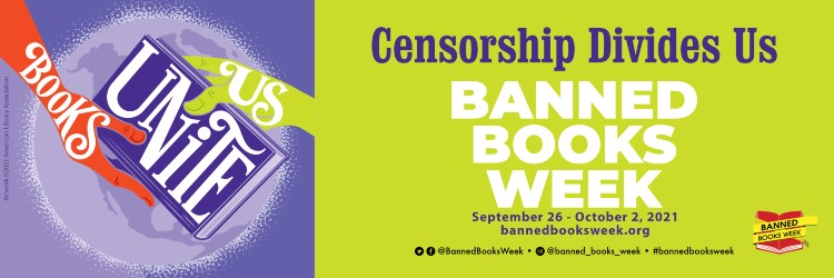 Banned Books Week  2021 logo and date