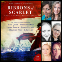 Ribbons of Scarlet cover and author photos