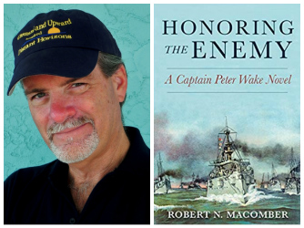 Honoring the Enemy book cover image and image of Robert Macomber