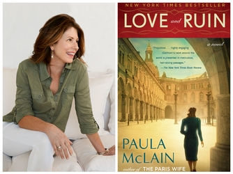 Paula McLain and cover of book Love and Ruin