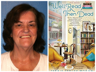 Terrie Farley Moran photo with book cover