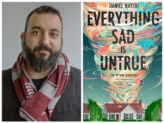 Daniel Nayeri and book cover