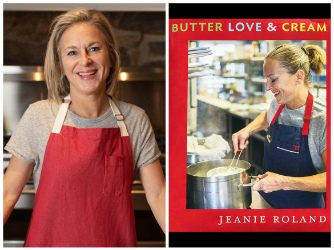 Chef Jeanie Roland photo and book cover image